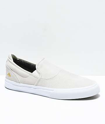 Emerica Wino G6 White Slip-On Skate Shoes
