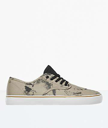 Emerica Wino Standard Black Wash Skate Shoes
