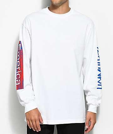 Emerica x Deathwish camiseta blanca de manga larga