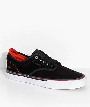 Emerica x Sriracha Wino G6 Black, Red & White Skate Shoes