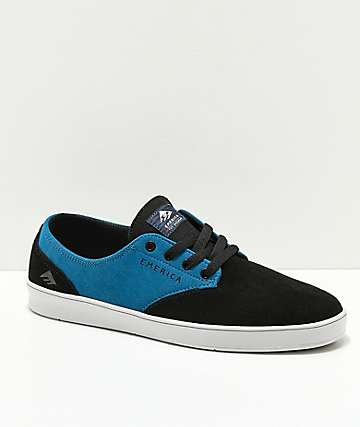 Emerica x Toy Machine Romero zapatos de skate en negro y azul