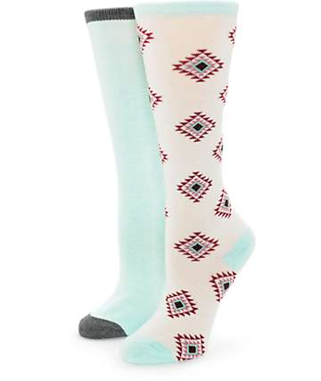Empyre 2 Pack Mint & Tribal Boot Socks