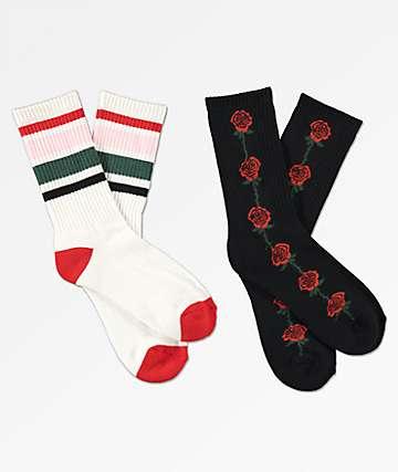 Empyre 2 Pack Rosevine Crew Socks