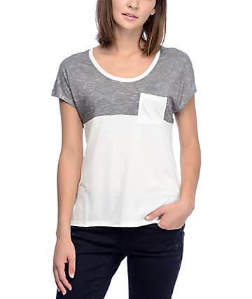 Empyre Abbott White Colorblock T-Shirt