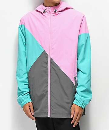 Empyre Access chaqueta cortavientos rosa y gris
