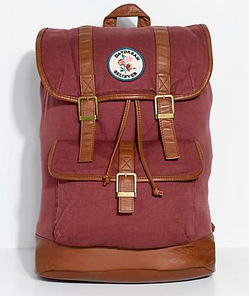 Empyre Addie Burgundy Canvas Backpack