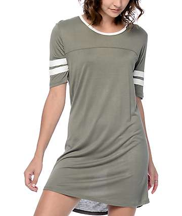 Empyre Adrian Athletic Olive T-Shirt Dress