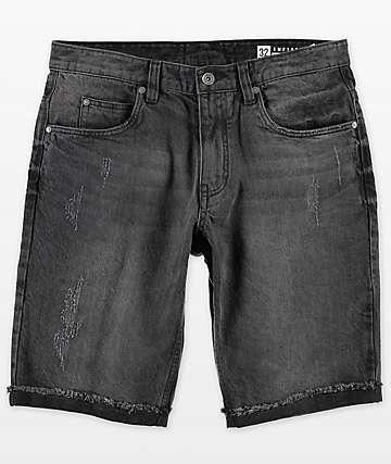 Empyre Albany Abyss shorts de mezclilla con lavado negro y rasgadas