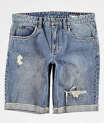 7babfe1ad7 Empyre Albany Blue Destroyed Denim Shorts