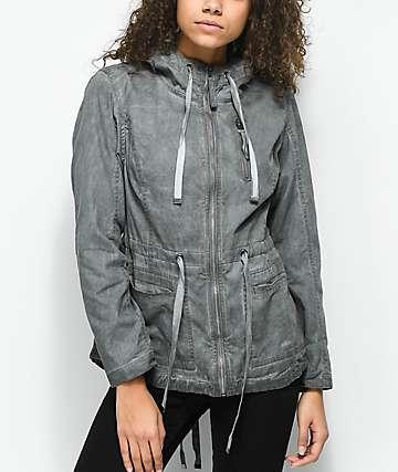 Empyre Alessia Grey Washed Twill Jacket
