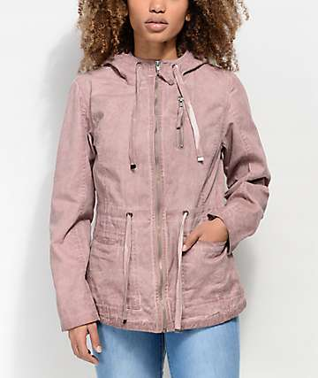 Empyre Alessia Washed Pink Twill Jacket