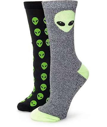 Empyre Alien 2 Pack calcetines negros
