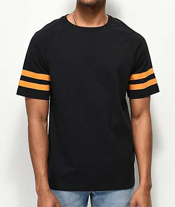 Empyre All-Star Football Black & Brown Woven T-Shirt