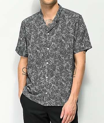 Empyre Andrew camisa tejida en blanco y negro floral