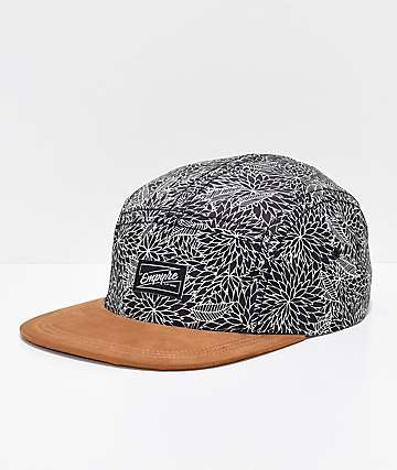 Empyre Angelo Black 5 Panel Strapback Hat a87fad738ff4