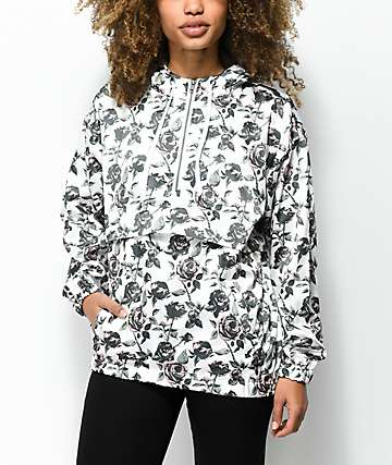 Empyre Anwen Floral Pullover Lined Windbreaker Jacket