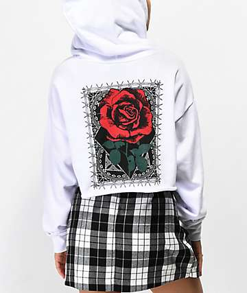 Empyre Ariana Rose sudadera blanca con capucha