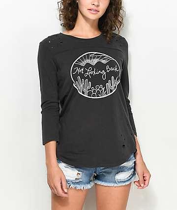 Empyre Arlene camiseta rota en negro