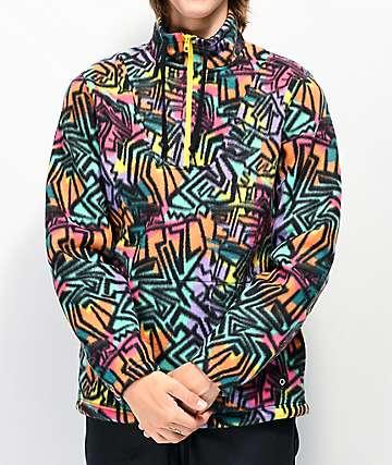 Empyre Aspen Multicolor Print Half Zip Tech Fleece Jacket