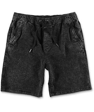 Empyre Atticus Black Acid Washed Chino Shorts