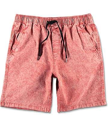 Empyre Atticus shorts chinos en rojo lavado ácido