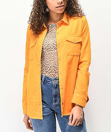 Empyre Bane Marigold Corduroy Button Up Shirt