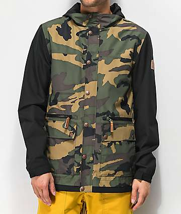 Empyre Banks Camo Varsity 10K Snowboard Jacket