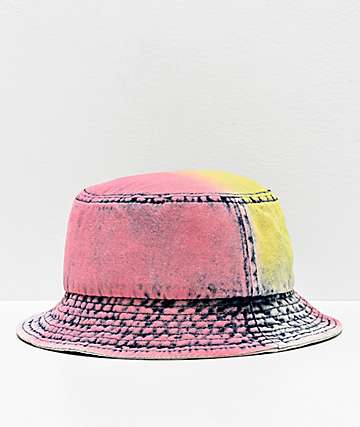 Empyre Bellatrix Pink & Yellow Washed Denim Bucket Hat