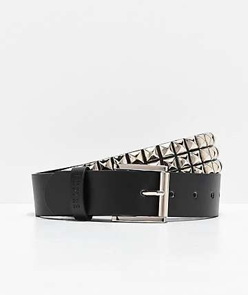 Empyre Black & Silver Studded Belt