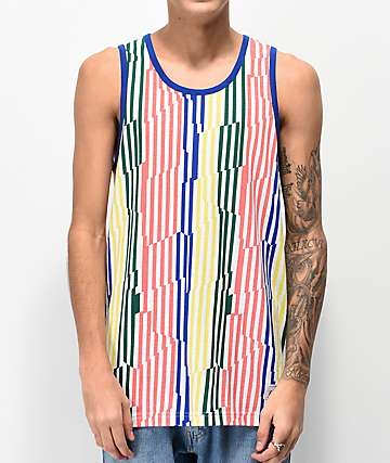 Empyre Blaze Broken Striped Tank Top