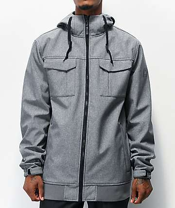 Empyre Blizzard Grey Softshell 10K Snowboard Jacket