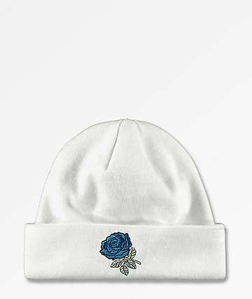 Empyre Blue Rose White Beanie