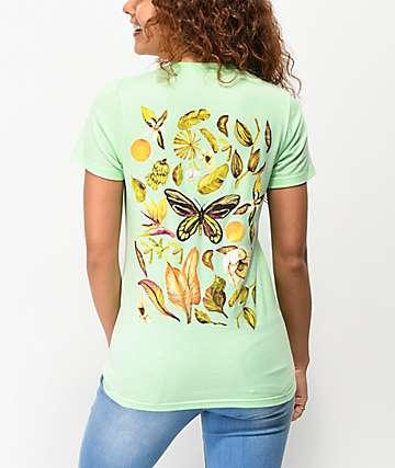 Empyre Botanical Butterfly camiseta menta