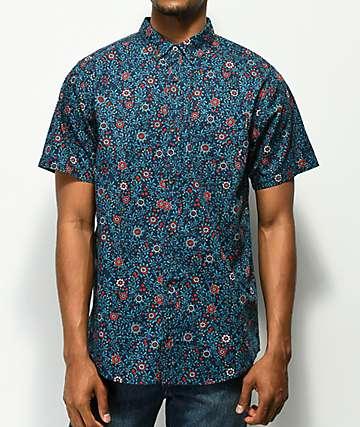Empyre Bounce camisa floral azul marino