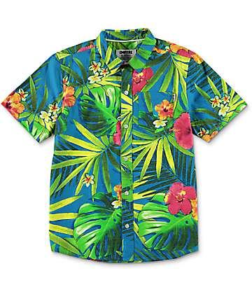 Empyre Boys Broch Hawaiian Short Sleeve Button Up