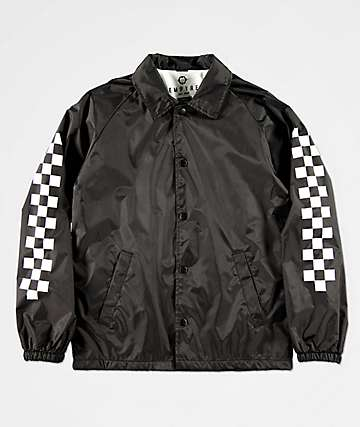 Empyre Boys Checkered Black Coaches Jacket