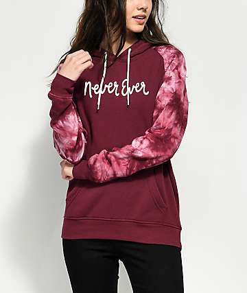 Empyre Brealynn Never Ever Burgundy & Bleach Hoodie