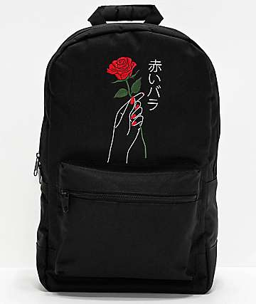 Empyre Brenda Rose Hand Black Backpack
