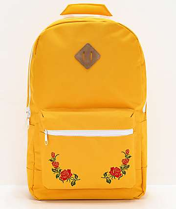 Empyre Brenda Roses Yellow Backpack