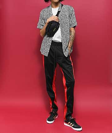 Empyre Brian Black & White Cheetah Short Sleeve Button Up Shirt