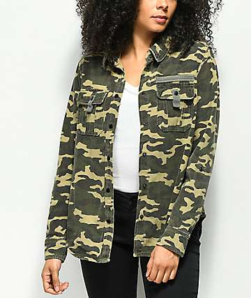 Empyre Brienne Camo Button Up