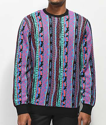 Empyre Brock Vertical Striped Multicolor Sweater