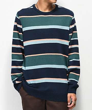 Empyre Brock suéter de cuello redondo a rayas