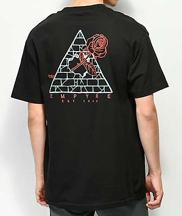 Empyre Broken Roses Black T-Shirt