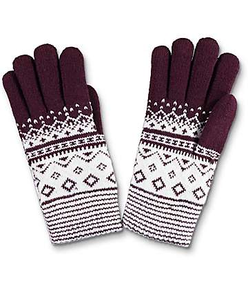 Empyre Burgundy Chenille Gloves
