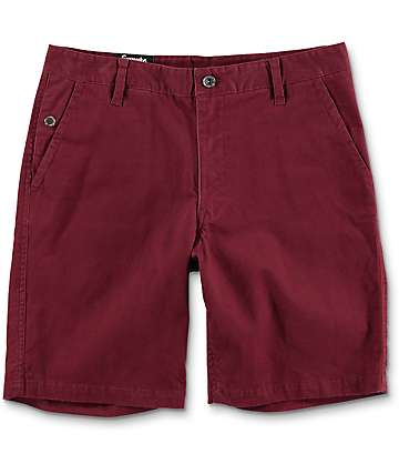 Empyre Calvin shorts chinos en color vino