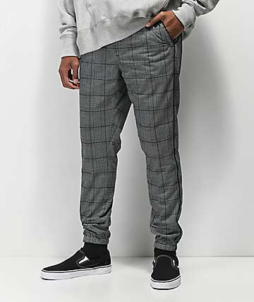 Empyre Caples Black Plaid Track Pants