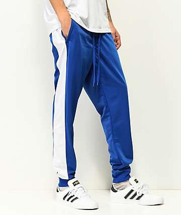 Empyre Caples Blue & White Cuff Track Pants