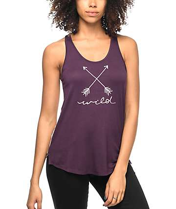 Empyre Casey Wild Floral Burgundy Tank Top