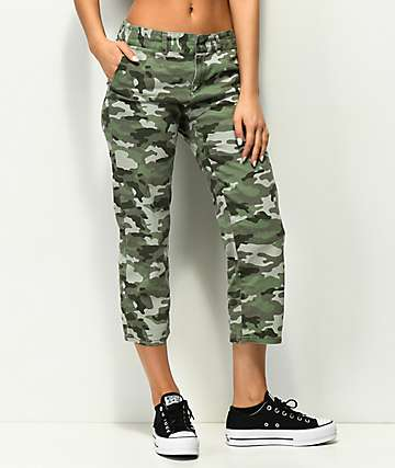Empyre Cassia Straight Crop Camo Pants
